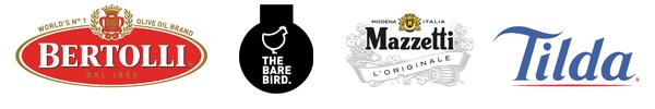 Sponsored by: Bertolli   The Bare Bird   Mazzetti L'Originale   Tilda