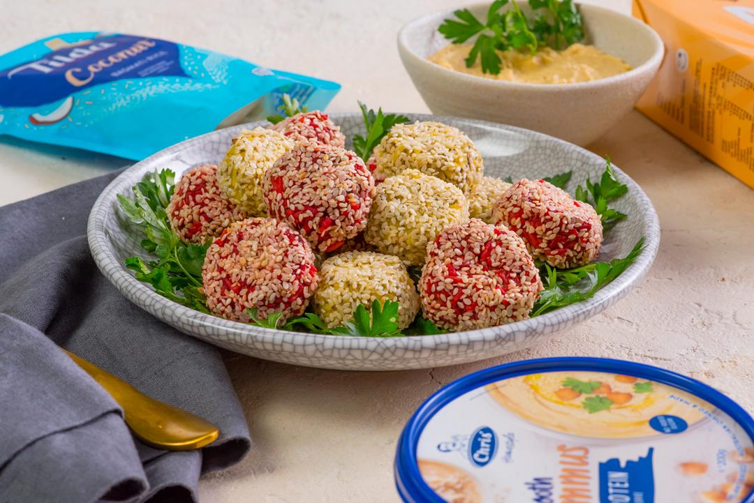Vegan Hommus and Sesame Bites